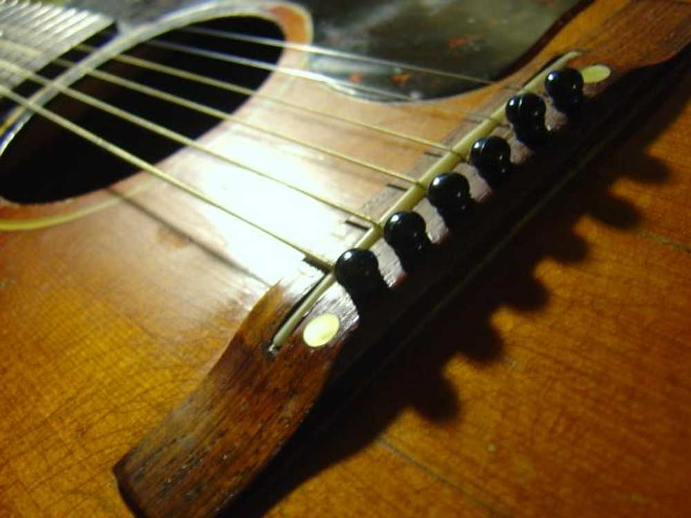 Click to get the codes for this image. Acoustic Guitar Bridge, Music and Musical Instruments Background, wallpaper or texture for any blog, web page, phone or desktop