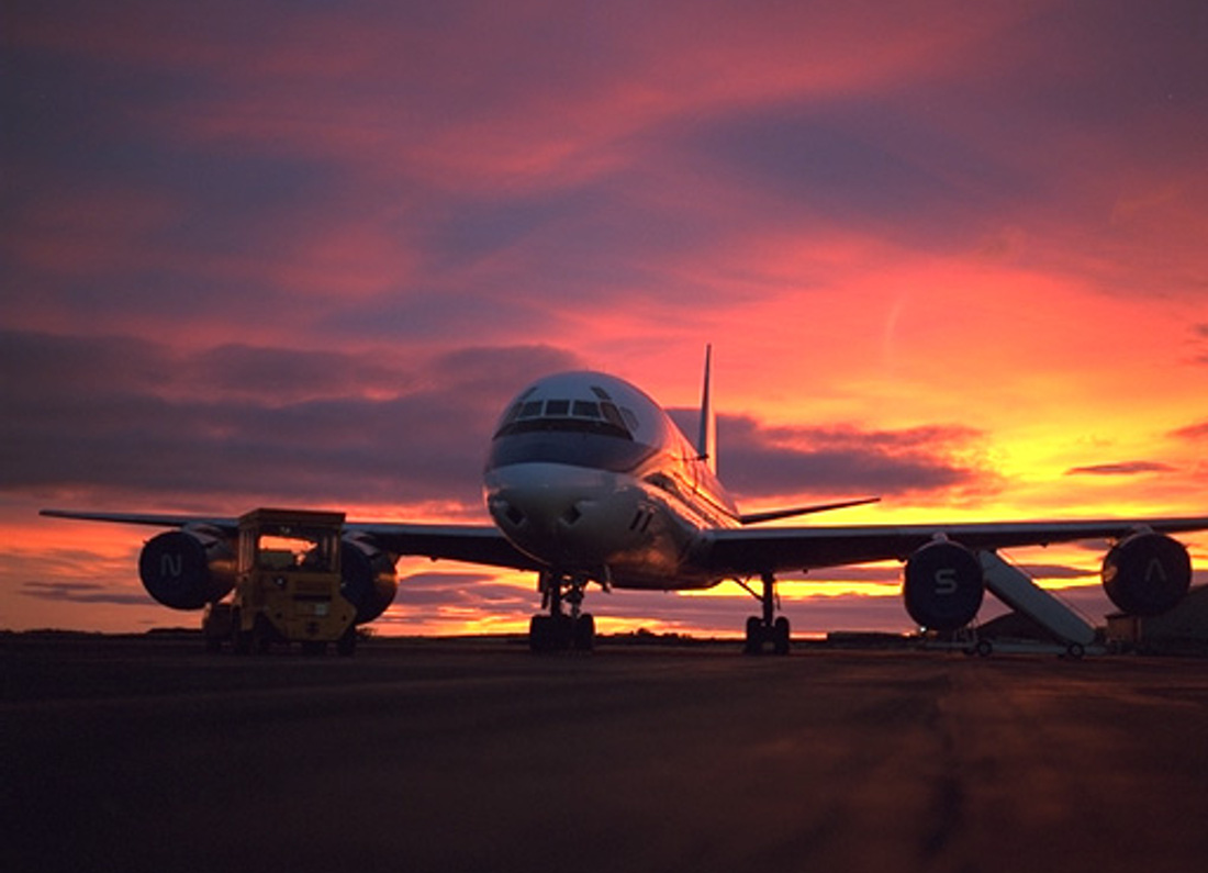 Click to get the codes for this image. Airplane At Sunset, Airplanes  Rockets, Sunsets and Sunrises Background, wallpaper or texture for any blog, web page, phone or desktop