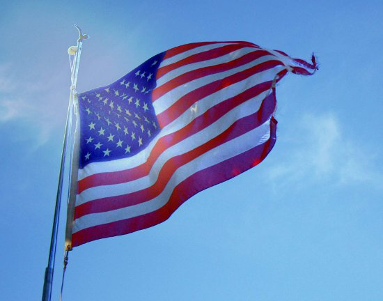 Click to get the codes for this image. American Flag With Blue Sky, Fourth of July, Patriotic Background, wallpaper or texture for, Blogger, Wordpress, or any web page, blog, desktop or phone.