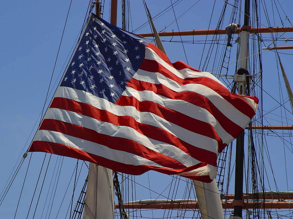 Click to get the codes for this image. American Flag With Ship's Rigging, Patriotic, Cars Boats Trains etc Background, wallpaper or texture for, Blogger, Wordpress, or any web page, blog, desktop or phone.