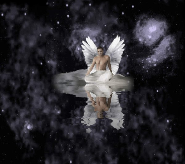Click to get the codes for this image. Angel In Night Sky Background 1800x1600, Fantasy, Christian, Angels and Fairies Background, wallpaper or texture for, Blogger, Wordpress, or any web page, blog, desktop or phone.