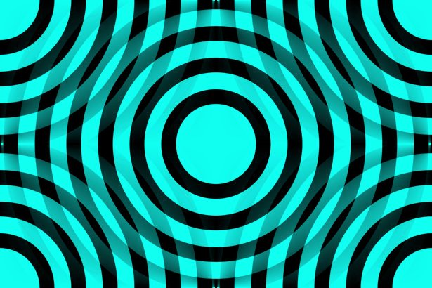Click to get the codes for this image. Aqua And Black Interlocking Concentric Circles, Patterns  Circles and Polkadots, Colors  Aqua Background, wallpaper or texture for Blogger, Wordpress, or any phone, desktop or blog.