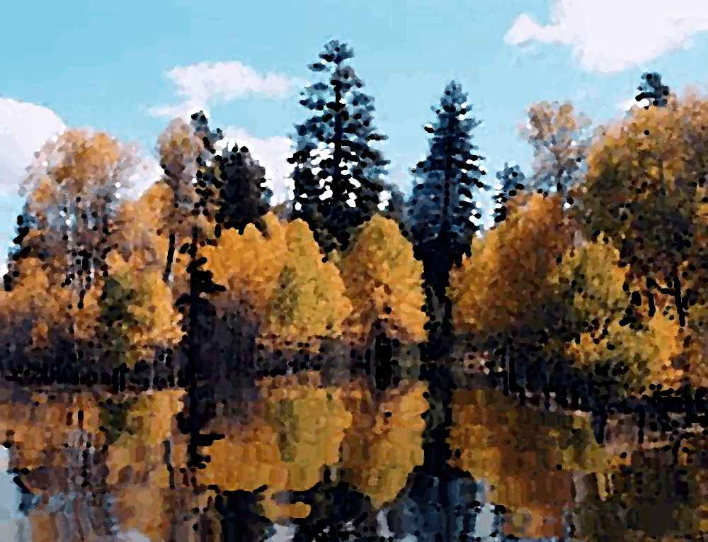Click to get the codes for this image. Autumn Lake Painting, Nature Landscapes  Scenery, Seasons  Fall Background, wallpaper or texture for Blogger, Wordpress, or any phone, desktop or blog.