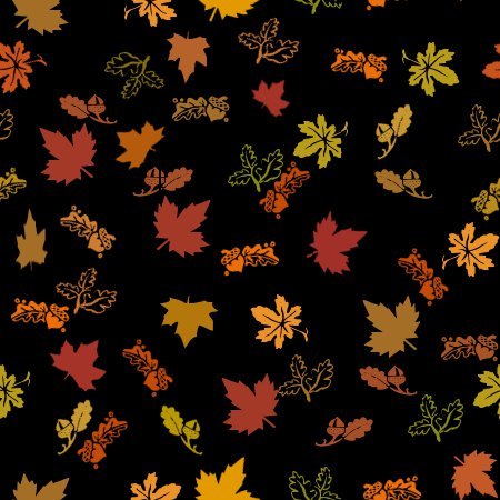 Click to get the codes for this image. Autumn Leaves Black Background Seamless, Seasons  Fall, Plants and Leaves,  New Backgrounds Background, wallpaper or texture for, Blogger, Wordpress, or any web page, blog, desktop or phone.