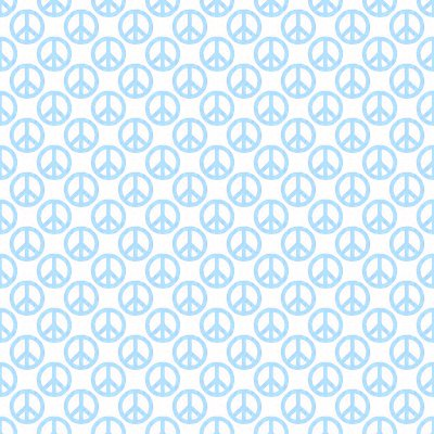 Click to get the codes for this image. Baby Blue Peace Signs On White Background Seamless, Peace Signs, Colors  Blue Background, wallpaper or texture for Blogger, Wordpress, or any phone, desktop or blog.