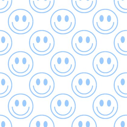 Click to get the codes for this image. Baby Blue Smiley Faces On White Background Seamless, Smiley Faces, Colors  Blue Background, wallpaper or texture for Blogger, Wordpress, or any phone, desktop or blog.