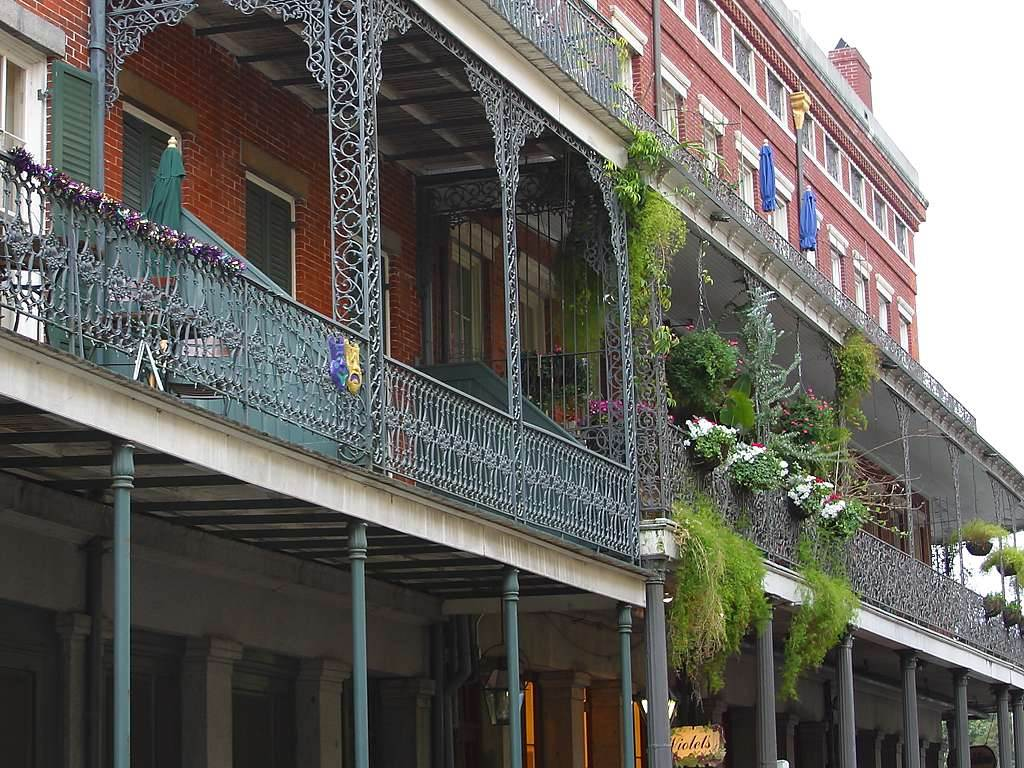 Click to get the codes for this image. Balconies In New Orleans, Cities  Buildings Background, wallpaper or texture for, Blogger, Wordpress, or any web page, blog, desktop or phone.