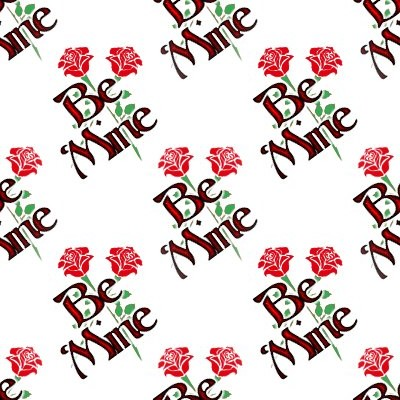 Click to get the codes for this image. Be Mine Crossed Roses On White, Holidays  Valentines Day Background, wallpaper or texture for Blogger, Wordpress, or any phone, desktop or blog.