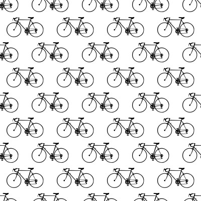 Click to get the codes for this image. Bicycles On White Background Seamless, Sports and Athletics, Cars Boats Trains etc, Colors  Black and White Background, wallpaper or texture for Blogger, Wordpress, or any phone, desktop or blog.