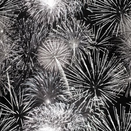 Click to get the codes for this image. Black And White Fireworks Tiled Background Wallpaper, Fourth of July, Holidays  New Years,  New Backgrounds, Fireworks, Colors  Black and White Background, wallpaper or texture for, Blogger, Wordpress, or any web page, blog, desktop or phone.