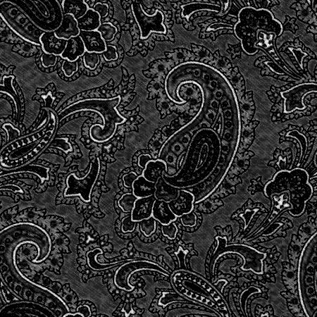 Click to get the codes for this image. Black Paisley Background Seamless Pattern, Colors  Dark and Black, Paisleys, Cloth Patterns Background, wallpaper or texture for Blogger, Wordpress, or any phone, desktop or blog.