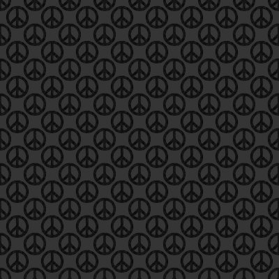 Click to get the codes for this image. Black Peace Signs Background Seamless, Peace Signs, Colors  Dark and Black Background, wallpaper or texture for Blogger, Wordpress, or any phone, desktop or blog.