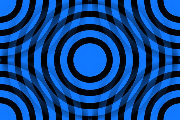 Click to get the codes for this image. Blue And Black Interlocking Concentric Circles, Patterns  Circles and Polkadots, Colors  Blue Background, wallpaper or texture for Blogger, Wordpress, or any phone, desktop or blog.