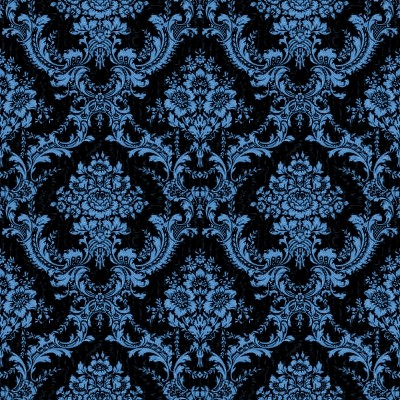 Click to get the codes for this image. Blue And Black Ornate Floral Wallpaper Tileable, Ornate, Flowers  Floral Designs, Colors  Blue Background, wallpaper or texture for, Blogger, Wordpress, or any web page, blog, desktop or phone.