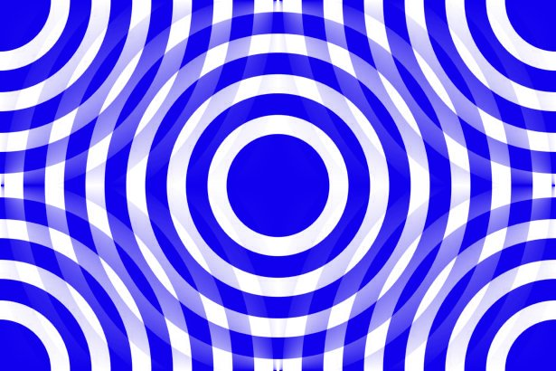Click to get the codes for this image. Blue And White Interlocking Concentric Circles, Patterns  Circles and Polkadots, Colors  Blue Background, wallpaper or texture for Blogger, Wordpress, or any phone, desktop or blog.