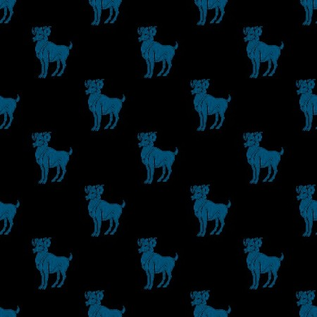 Click to get the codes for this image. Blue Aries On Black, Astrology  Zodiac Symbols Background, wallpaper or texture for, Blogger, Wordpress, or any web page, blog, desktop or phone.