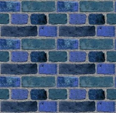 Click to get the codes for this image. Blue Brick Wall Tileable Wallpaper, Bricks, Colors  Blue, Walls Background, wallpaper or texture for, Blogger, Wordpress, or any web page, blog, desktop or phone.