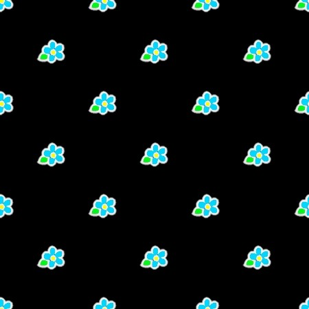 Click to get the codes for this image. Blue Flowers On Black, Flowers  Floral Designs, Colors  Blue Background, wallpaper or texture for Blogger, Wordpress, or any phone, desktop or blog.