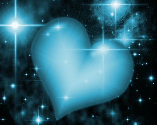 Click to get the codes for this image. Blue Heart With Starry Background, Colors  Aqua, Hearts Background, wallpaper or texture for, Blogger, Wordpress, or any web page, blog, desktop or phone.