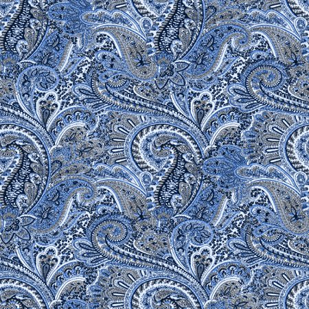 Click to get the codes for this image. Blue Paisley Pattern Background Seamless, Cloth Patterns, Paisleys, Colors  Blue Background, wallpaper or texture for Blogger, Wordpress, or any phone, desktop or blog.