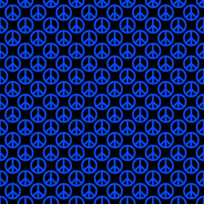Click to get the codes for this image. Blue Peace Signs On Black Background Seamless, Peace Signs, Colors  Blue Background, wallpaper or texture for Blogger, Wordpress, or any phone, desktop or blog.