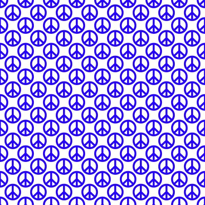 Click to get the codes for this image. Blue Peace Signs On White Background Seamless, Peace Signs, Colors  Blue Background, wallpaper or texture for Blogger, Wordpress, or any phone, desktop or blog.