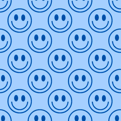 Click to get the codes for this image. Blue Smiley Faces Background Seamless, Smiley Faces, Colors  Blue Background, wallpaper or texture for Blogger, Wordpress, or any phone, desktop or blog.