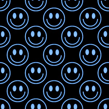 Click to get the codes for this image. Blue Smiley Faces On Black Background Seamless, Smiley Faces, Colors  Blue Background, wallpaper or texture for Blogger, Wordpress, or any phone, desktop or blog.