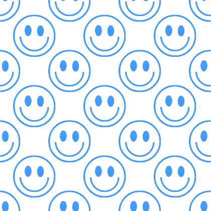 Click to get the codes for this image. Blue Smiley Faces On White Background Seamless, Smiley Faces, Colors  Blue Background, wallpaper or texture for Blogger, Wordpress, or any phone, desktop or blog.