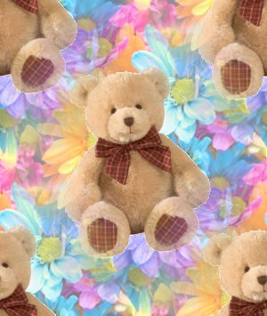 Click to get the codes for this image. Brown Teddy Bearwith Flowers, Teddy Bears Background, wallpaper or texture for any blog, web page, phone or desktop