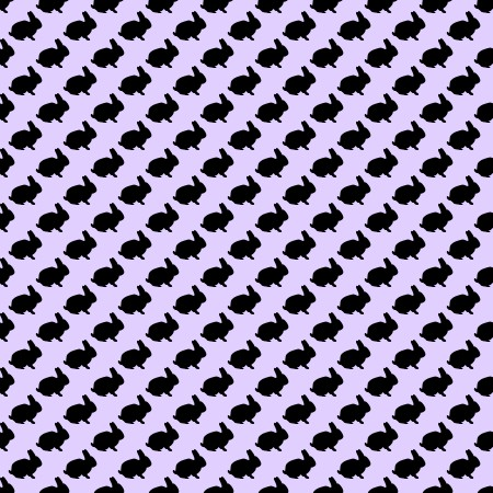 Click to get the codes for this image. Bunny Silhouettes On Lavender Background Seamless, Animals, Holidays  Easter, Colors  Purple Background, wallpaper or texture for Blogger, Wordpress, or any phone, desktop or blog.