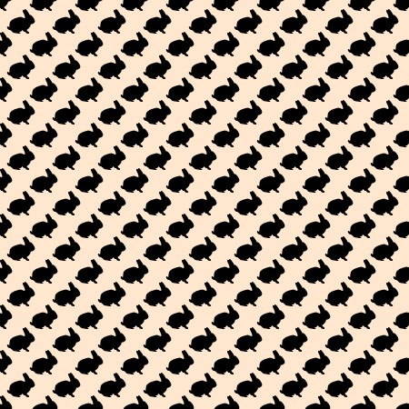 Click to get the codes for this image. Bunny Silhouettes On Peach Background Seamless, Animals, Holidays  Easter, Colors  Orange Background, wallpaper or texture for Blogger, Wordpress, or any phone, desktop or blog.