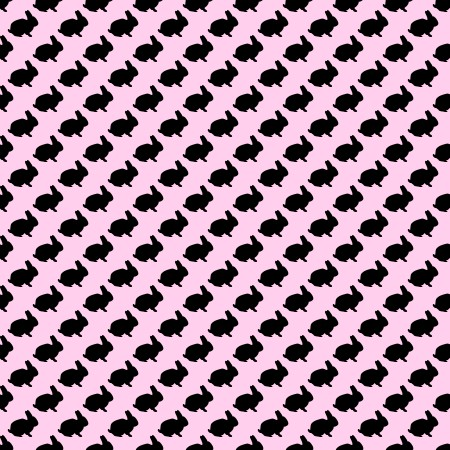 Click to get the codes for this image. Bunny Silhouettes On Pink Background Seamless, Animals, Holidays  Easter, Colors  Pink Background, wallpaper or texture for Blogger, Wordpress, or any phone, desktop or blog.