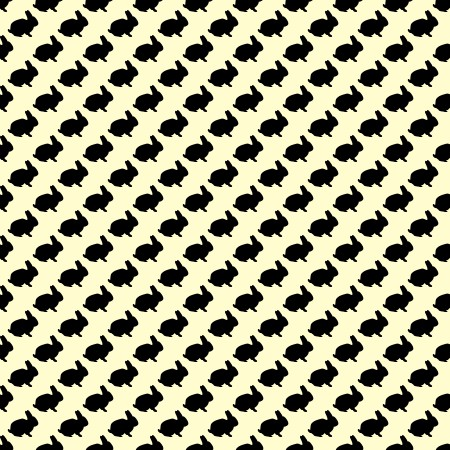 Click to get the codes for this image. Bunny Silhouettes On Yellow Background Seamless, Animals, Holidays  Easter, Colors  Yellow and Gold Background, wallpaper or texture for Blogger, Wordpress, or any phone, desktop or blog.