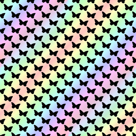 Click to get the codes for this image. Butterfly Silhouettes On Pastel Rainbow Background Seamless, Butterflies, Colors  Rainbow, Colors  Pastels Background, wallpaper or texture for Blogger, Wordpress, or any phone, desktop or blog.