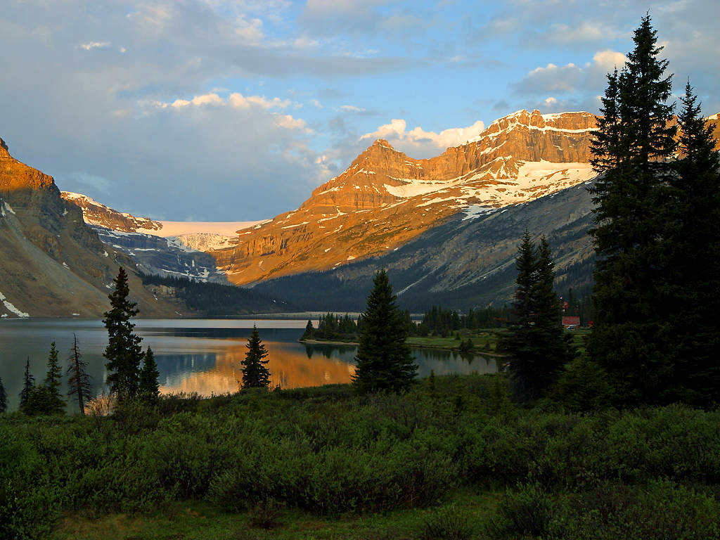 Click to get the codes for this image. Canadian Mountain Lake, Nature Landscapes  Scenery Background, wallpaper or texture for any blog, web page, phone or desktop