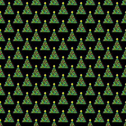 Click to get the codes for this image. Christmas Trees On Black Background Seamless, Holidays  Christmas Background, wallpaper or texture for Blogger, Wordpress, or any phone, desktop or blog.