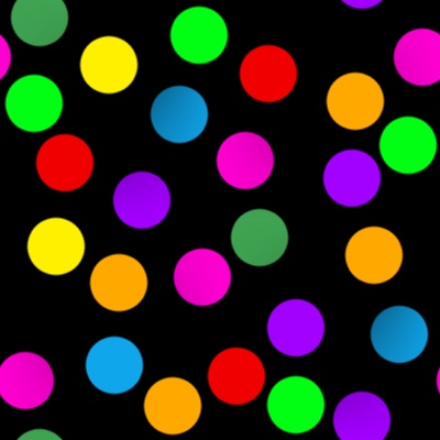 Click to get the codes for this image. Colorful Dots On Black, Patterns  Circles and Polkadots, Colors  Rainbow Background, wallpaper or texture for Blogger, Wordpress, or any phone, desktop or blog.