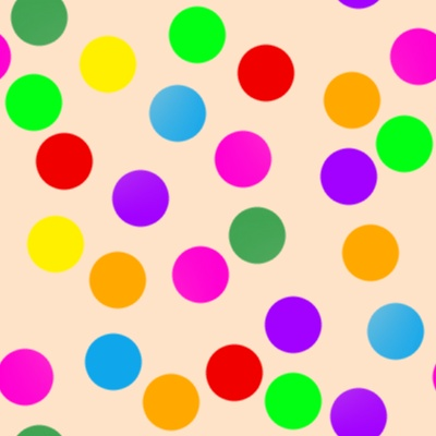 Click to get the codes for this image. Colorful Dots On Light Orange, Patterns  Circles and Polkadots Background, wallpaper or texture for Blogger, Wordpress, or any phone, desktop or blog.