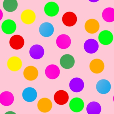 Click to get the codes for this image. Colorful Dots On Light Red, Patterns  Circles and Polkadots Background, wallpaper or texture for Blogger, Wordpress, or any phone, desktop or blog.