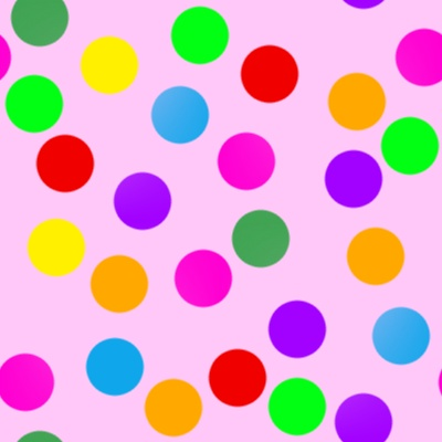 Click to get the codes for this image. Colorful Dots On Pink, Patterns  Circles and Polkadots Background, wallpaper or texture for Blogger, Wordpress, or any phone, desktop or blog.