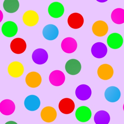 Click to get the codes for this image. Colorful Dots On Purple, Patterns  Circles and Polkadots Background, wallpaper or texture for Blogger, Wordpress, or any phone, desktop or blog.