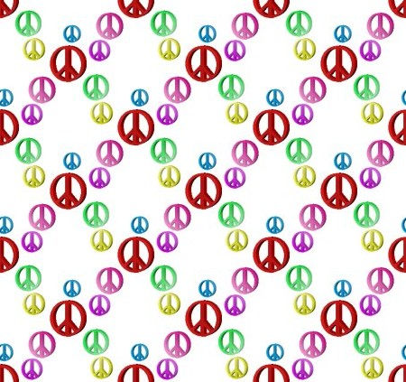 Click to get the codes for this image. Colorful Peace Signs On White Background, Peace Signs, Signs  Symbols Background, wallpaper or texture for, Blogger, Wordpress, or any web page, blog, desktop or phone.