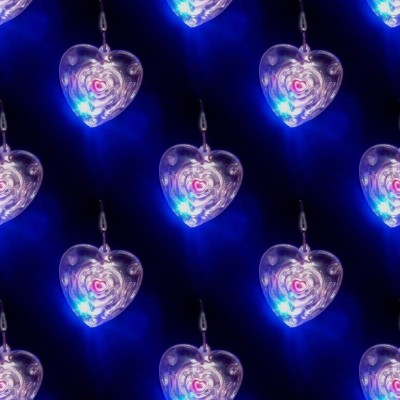 Click to get the codes for this image. Crystal Hearts With Blue Glowing Light, Hearts, Gems and Diamonds Background, wallpaper or texture for, Blogger, Wordpress, or any web page, blog, desktop or phone.