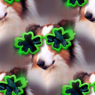 Click to get the codes for this image. Dog With Shamrock Glasses, Saint Patrick's Day, Animals  Dogs Background, wallpaper or texture for Blogger, Wordpress, or any phone, desktop or blog.