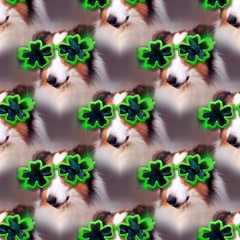 Click to get the codes for this image. Dog With Shamrock Glasses Small, Saint Patrick's Day, Animals  Dogs Background, wallpaper or texture for Blogger, Wordpress, or any phone, desktop or blog.