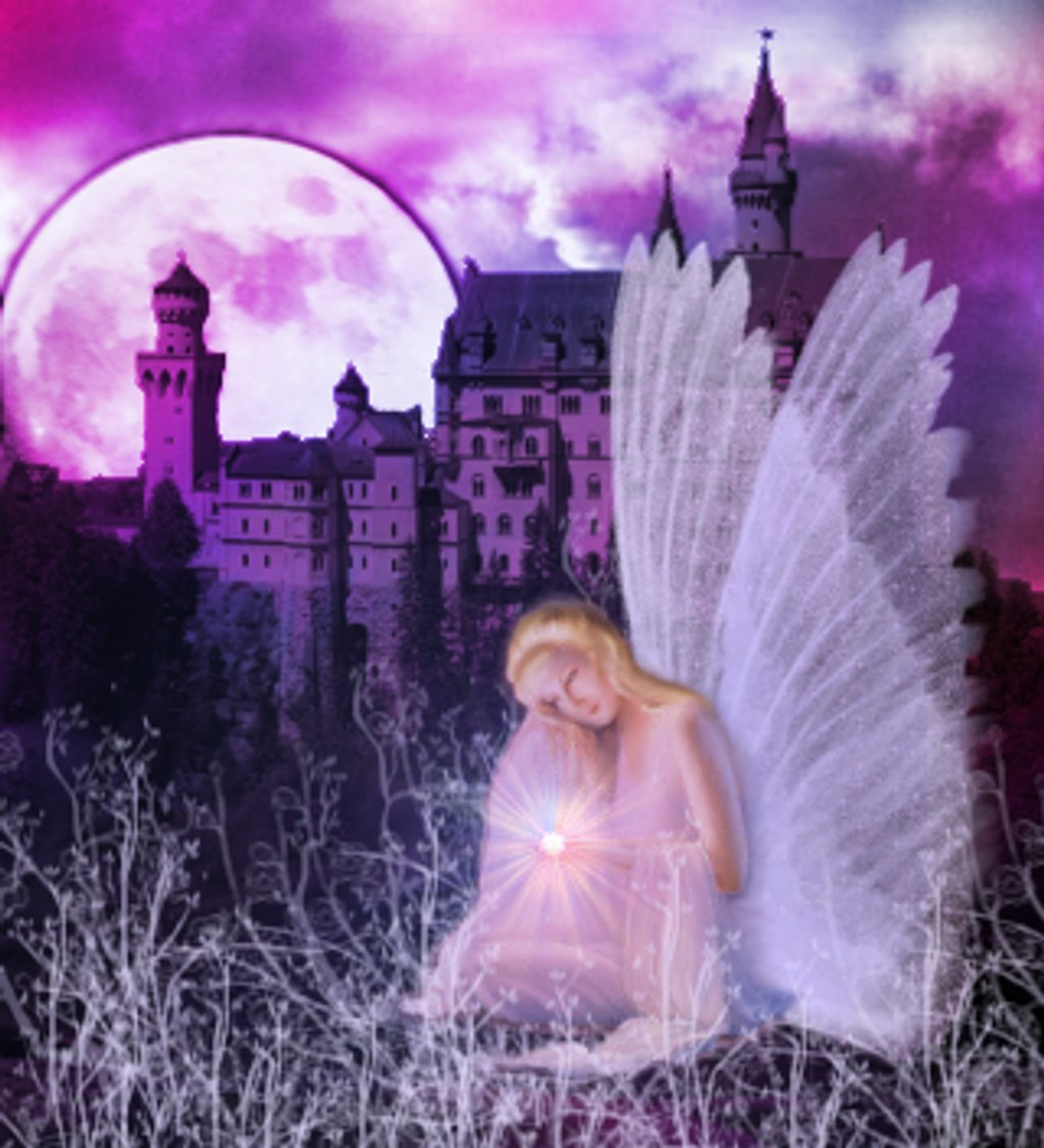 Click to get the codes for this image. Fantasy Angel With Castle, Fantasy, Angels and Fairies Background, wallpaper or texture for, Blogger, Wordpress, or any web page, blog, desktop or phone.