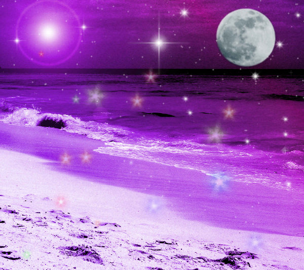 Click to get the codes for this image. Fantasy Beach Background Purple 1800x1600, Fantasy, Ocean  Water, Colors  Purple Background, wallpaper or texture for, Blogger, Wordpress, or any web page, blog, desktop or phone.