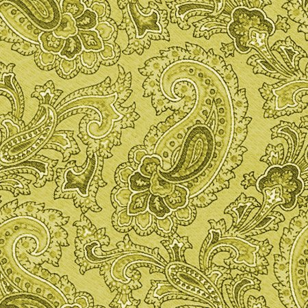 Click to get the codes for this image. Gold Paisley Background Seamless Pattern, Colors  Yellow and Gold, Paisleys, Cloth Patterns Background, wallpaper or texture for Blogger, Wordpress, or any phone, desktop or blog.