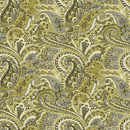 Click to get the codes for this image. Gold Paisley Pattern Background Seamless, Cloth Patterns, Paisleys, Colors  Yellow and Gold Background, wallpaper or texture for Blogger, Wordpress, or any phone, desktop or blog.
